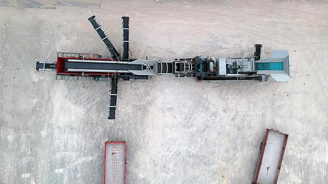 移动式时产150吨每小时生产线